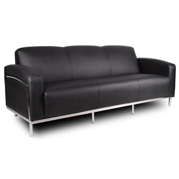 contemporary black reception couch