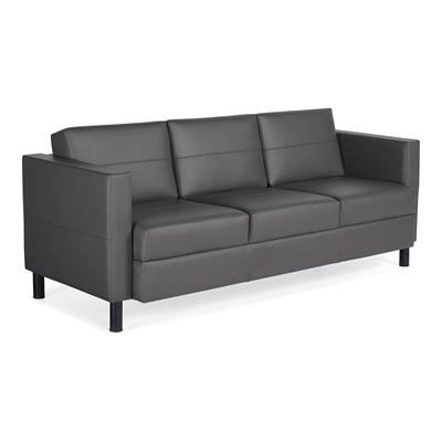 global citi 3 seat black sofa - better office furniture