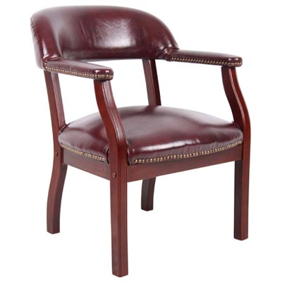 Captain's Guest Chair-Burgundy