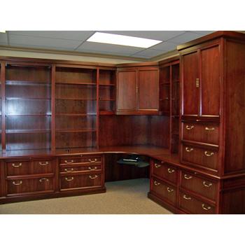Custom Traditional Wood Corner Office Furniture Desk - Better ...