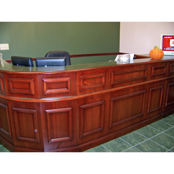 Beautiful Custom Traditional Wood Carrico Reception Desk