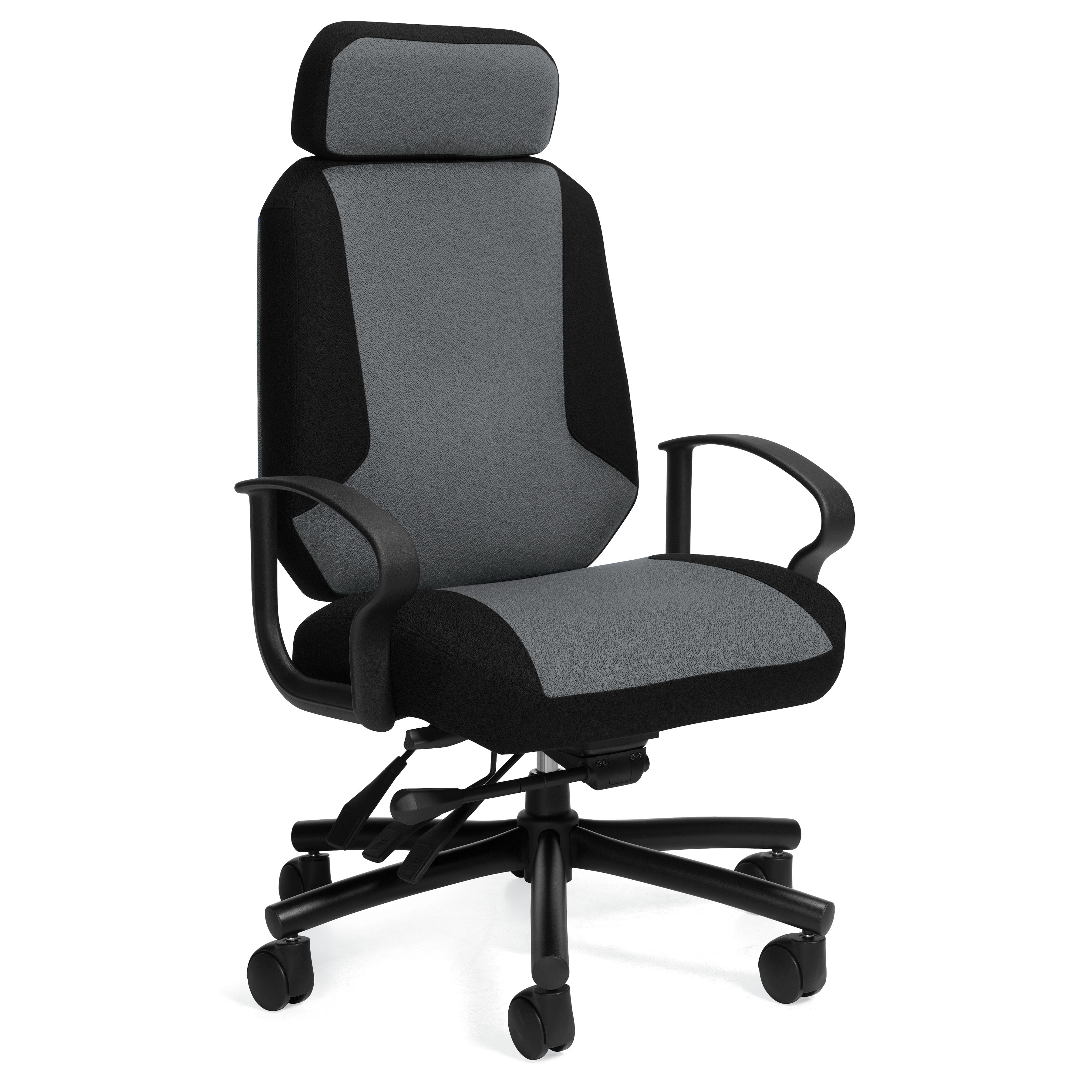 Global 2526 Robust Two Tone 500 Lb Capacity Office Chair