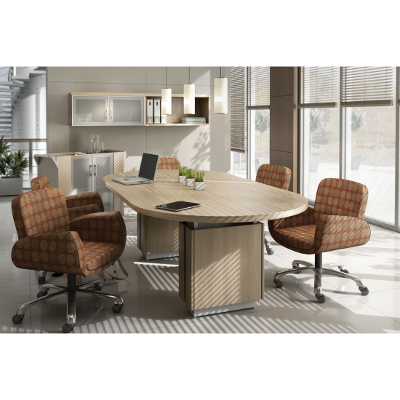 Foot Global Zira Boat Shape Conference Table Better Office - Global conference table