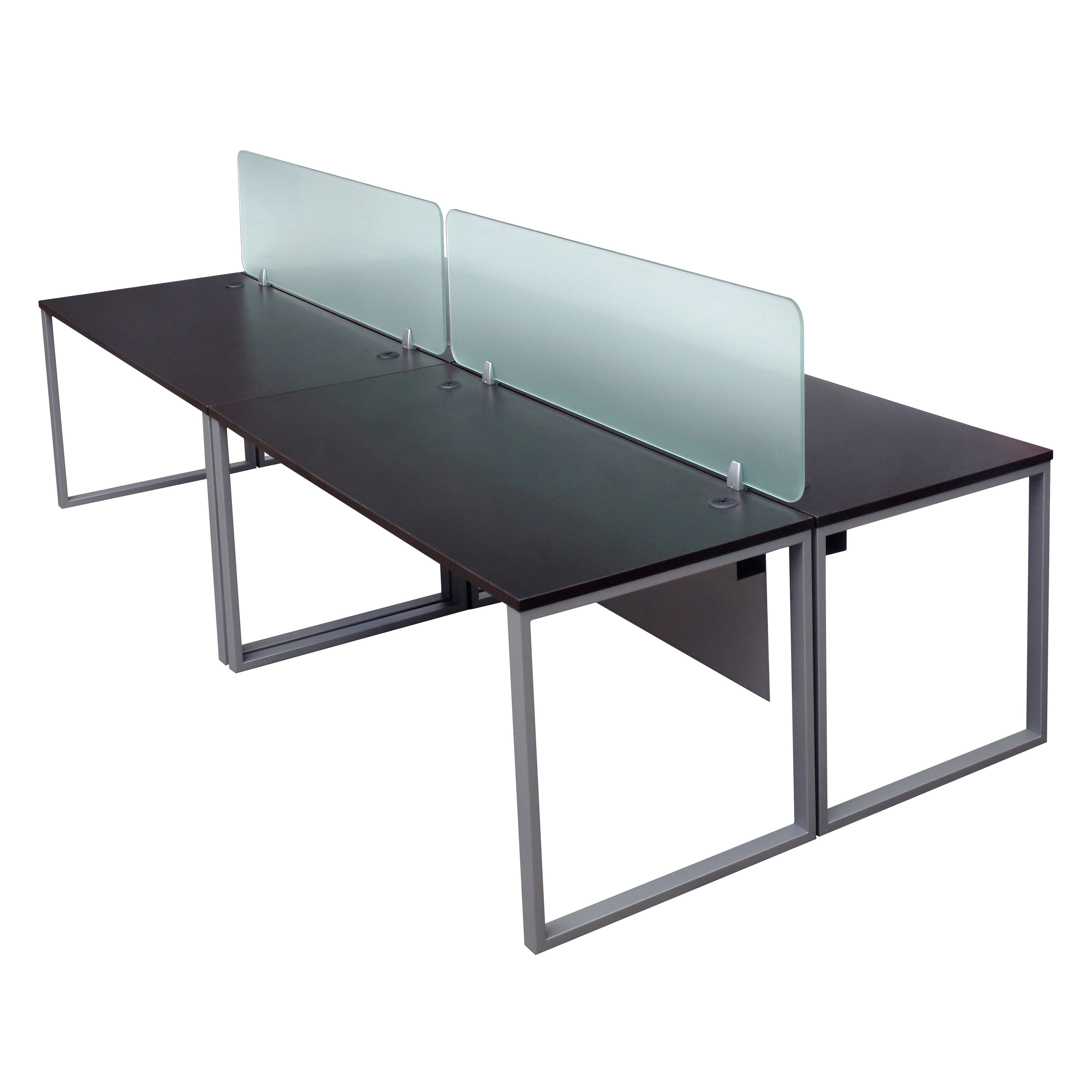 Lair Express Benching Table With Glass Dividers 2 232
