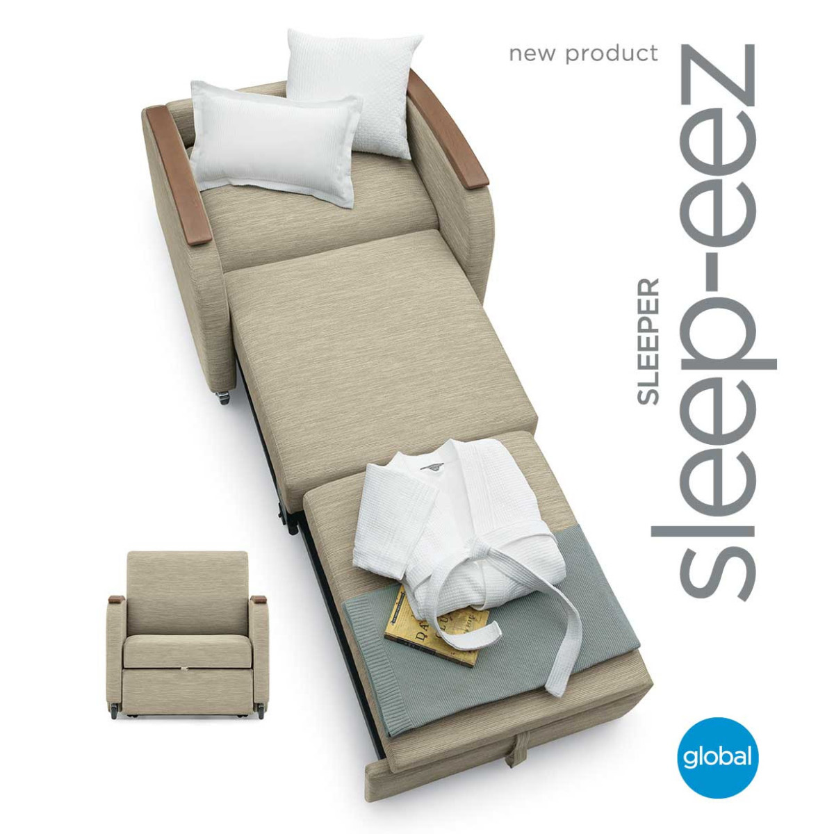 Awe Inspiring Sleep Eez Compact Sleeper Chair Sit Relax Or Rest In Dailytribune Chair Design For Home Dailytribuneorg