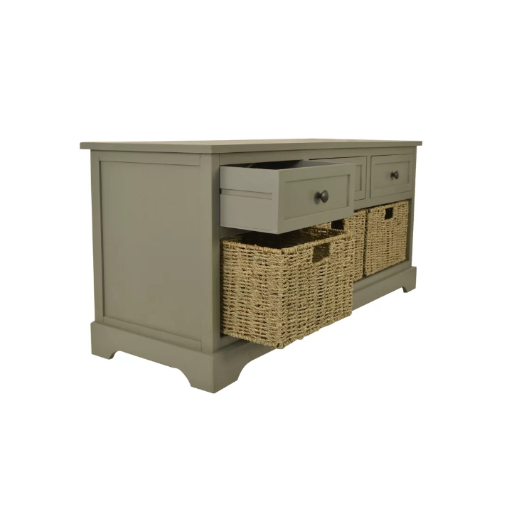 Miraculous Gray Wood Entryway Storage Bench With 3 Cubby Area 350 Ocoug Best Dining Table And Chair Ideas Images Ocougorg