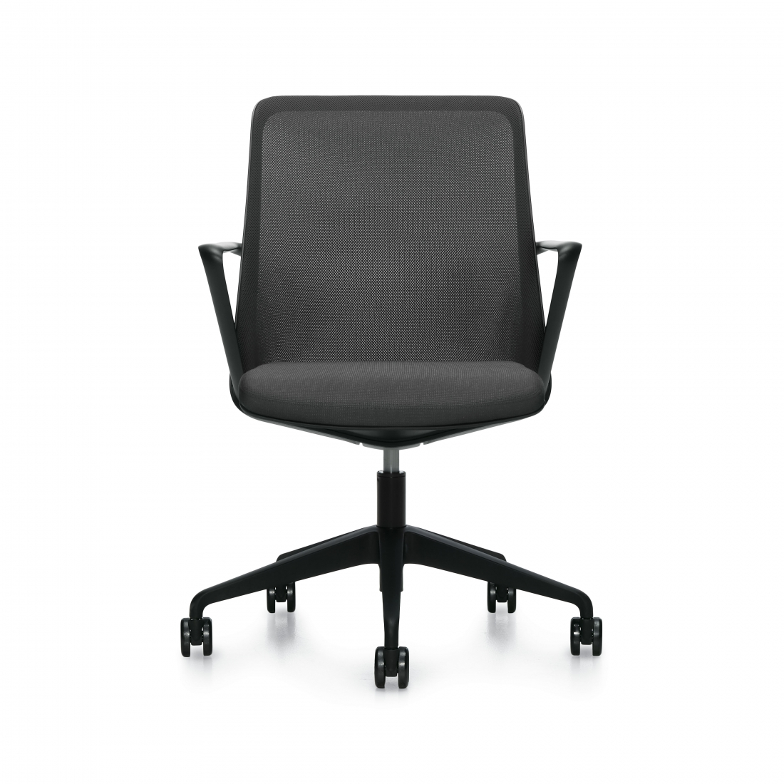 Prefer Conference Chair With Mesh Back And Upholstered